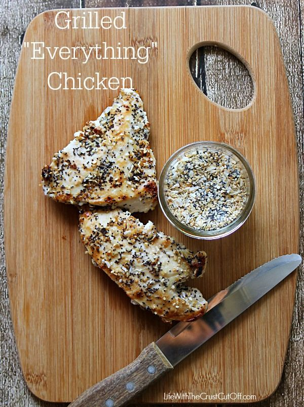 Grilled Everything Chicken All the flavor of a delicious everything bagel but on chicken!