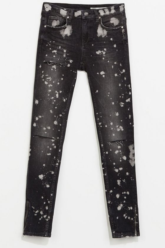 8eede7a0 Zara Paint Jeans, £39.99 | Clothes and stuff | Zara jeans, Denim trends,  Jeans