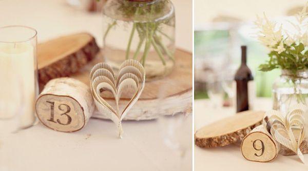 Ideias para o casamento com troncos de madeira