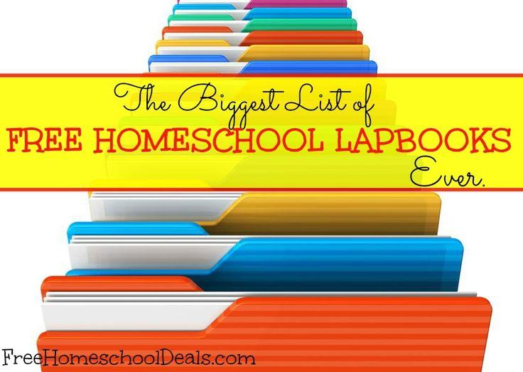 The BIGGEST List of FREE HOMESCHOOL LAPBOOKS - Ever!