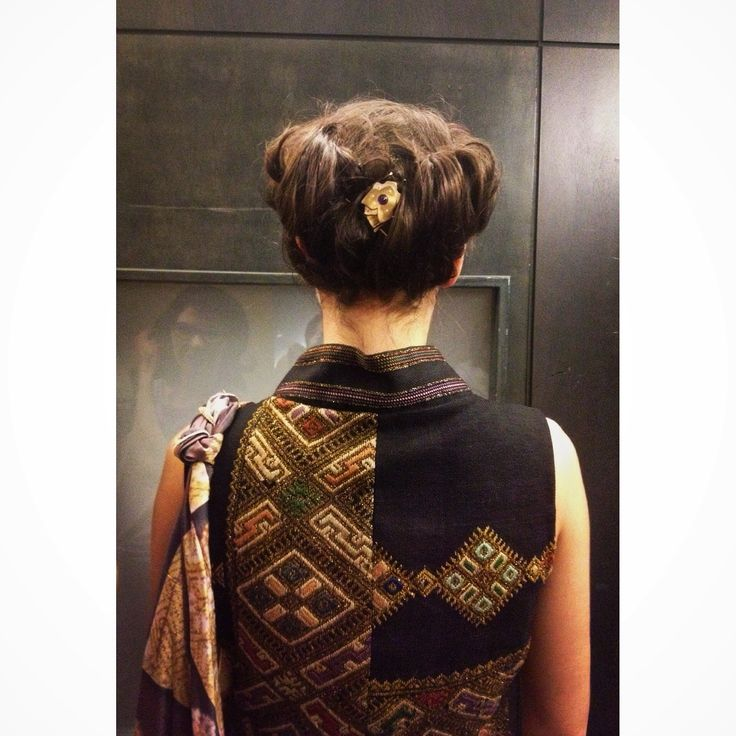#Heritage - a piece of history to wear - #SandraGalan #Bespoke #Dress #Design. #Hair #Jewellery by Bijuterii cu Alint. Close up shot by Raluca Jurcovan