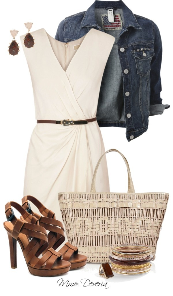 """""""Michael Kors belted dress"""" by madamedeveria ❤ liked on Polyvore"""