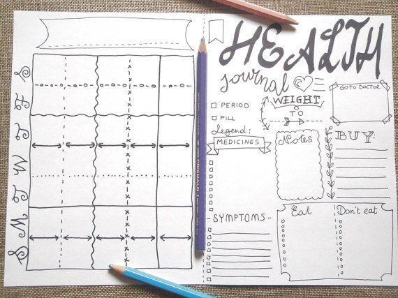 health bujo journal medicines pills monthly bujo printable planner organize…