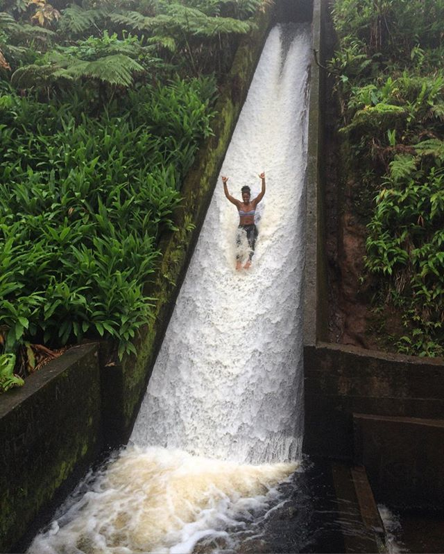 How fun does this hidden jungle waterslide look?!