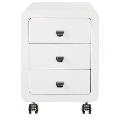Kontener White Club Roll 3 Drawers, kare design