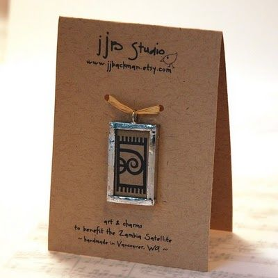 craft booth\ | craft booth displays / Nice display card idea for pendents.