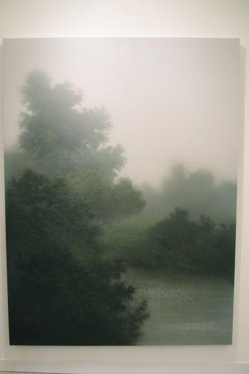 poietike:   Kibong Rhee - Vanishing Island - 2011 - acrylic, plexiglass and mixed media on canvas