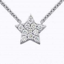 Oro blanco de 18 quilates, con pavé de diamantes blancos para un total de 0,09 quilates