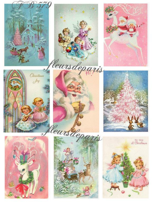 couples candy cane--8.5 by 11--Digital Collage Sheet  1344 Digital Clipart Vintage Christmas Cards--snowman instant download snowmen
