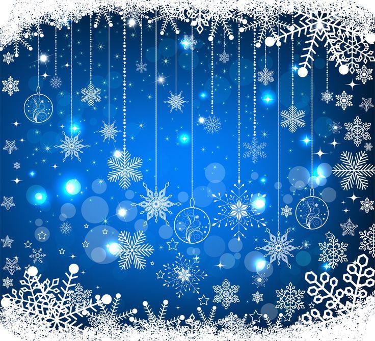 [フリーイラスト素材] イラスト, 自然, 雪, 雪の結晶, 冬, 青色 / ブルー ID:201312030000