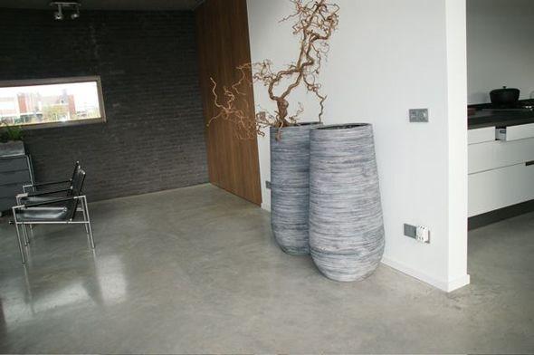 gevlinderd betonnen vloer