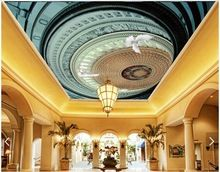 3D behang custom 3d plafond behang muurschilderingen wereldvrede plafond behang decoratief schilderen 3d woonkamer foto behang(China (Mainland))