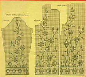 Professione Donna: Schemi per il filet: La giacca turchese a filet per l'estate stile Vintage.