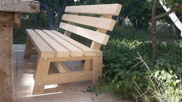 garden bench made by Emre and Nesrin