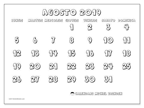 Calendario Agosto 2019 Da Stampare Gratis.Calendari Da Stampare Calendario Calendario Settembre