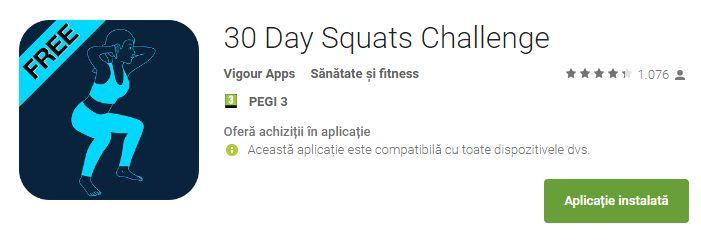 Provocarea 30 day squats-nivelul beginner |