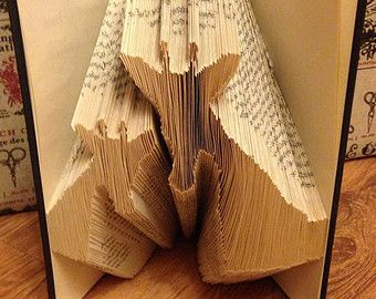 Book Folding Pattern for a Beautiful by BookFoldingForever on Etsy