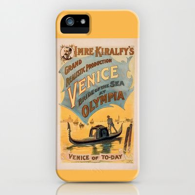 Vintage theatrical poster for Imre Kiralfy's production of Venice Bride of the Sea at Olympia iPhone & iPod Case by RQ Designs (Retro Quotes) - $35.00