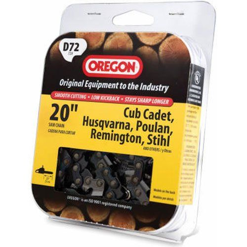 """Not all chains will fit all saws brands mentioned on the packaging, to make sure you are getting the correct part call Oregon Customer Care at 1-800-223-5168 * 20"""" chain fits many popular chainsaw brands, including Husqvarna and Makita * UL classified to conform to ANSI 175.1 standards for low-kickback saw chain * Made in USA at ISO certified facility * (Placed within the Amazon Associates program) * 22:46 Mar 19 2017"""
