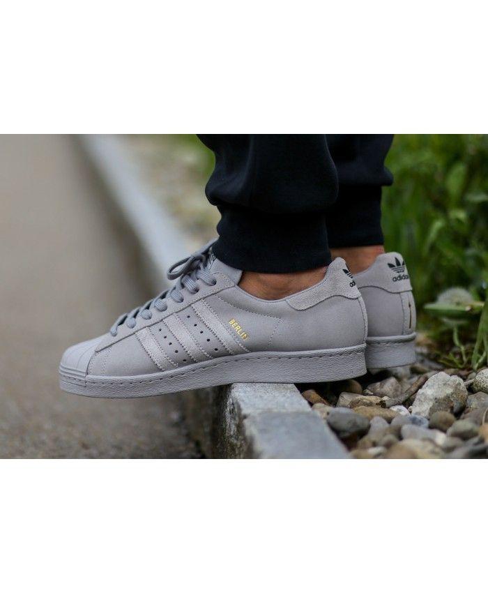 cozy fresh 43b6a 030fb Unisex Adidas Originals Superstar Berlin City All Grey Trainer
