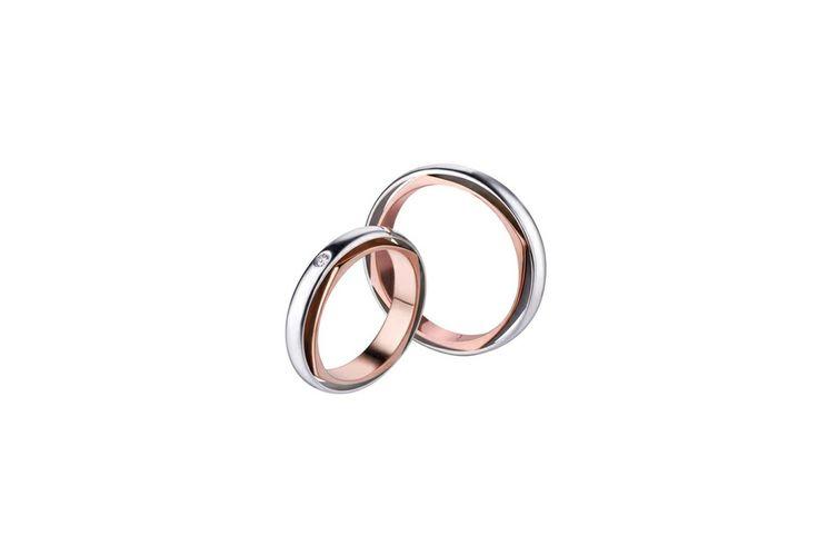 Fedi Polello..oro bianco e rosa con brillantino.. Gioielleria stra Torino. Www.gioielleriastra.com
