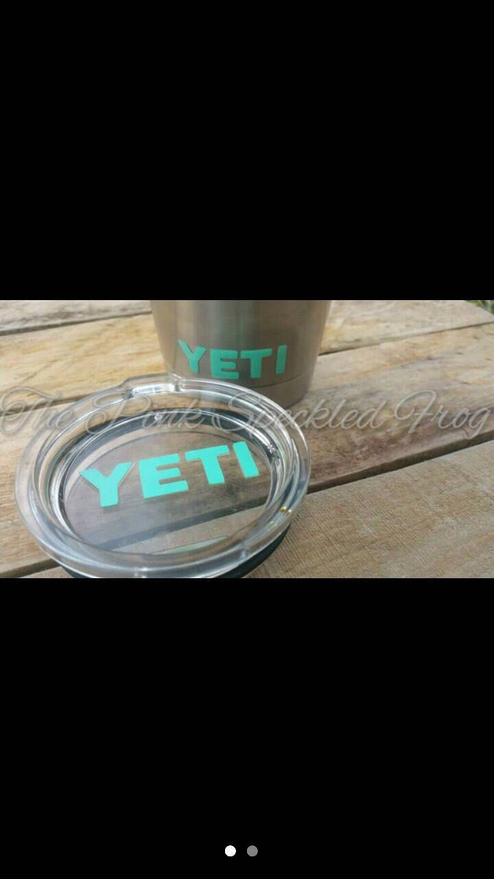Yeti lid decal 30 oz yeti cup decal by ThePinkSpeckledFrog on Etsy https://www.etsy.com/listing/266829867/yeti-lid-decal-30-oz-yeti-cup-decal