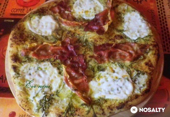 Pestós pizza