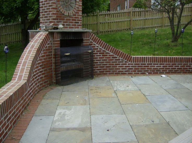 Top 25 Best Outdoor Fireplace Brick Ideas On Pinterest