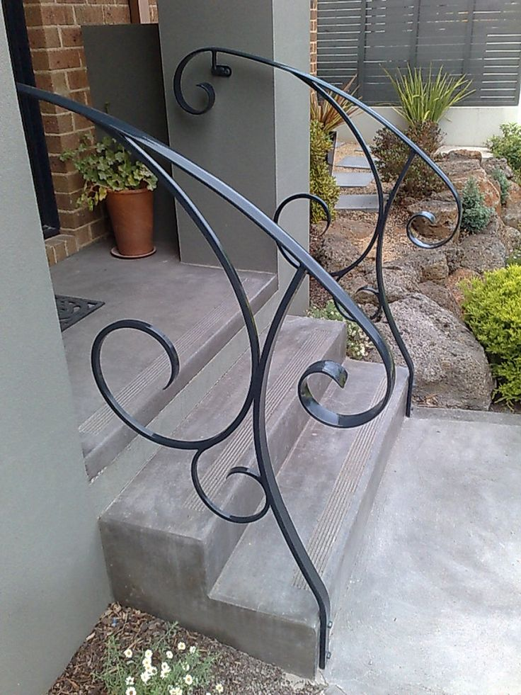 10 best ideas about handrail ideas on pinterest stair - Exterior wrought iron handrails for steps ...