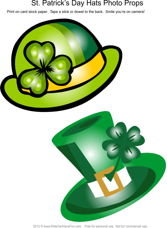 St. Patrick's Day Leprechaun Hats Photo Booth Props #photobooth #props #stpatricksday