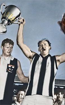 Darrel Baldock celebrates the 1966 flag