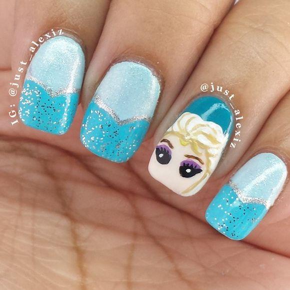 446 best nail art images on pinterest nailart disney frozen like frozen so do we see more disneys frozen nail art here prinsesfo Images