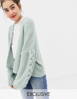 7dcaba63364fa OneOn hand knitted cable cardigan