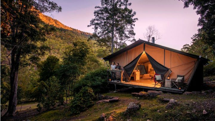Like the idea of camping but hate the idea of going without life's luxuries? Try glamping in the Brisbane region instead.