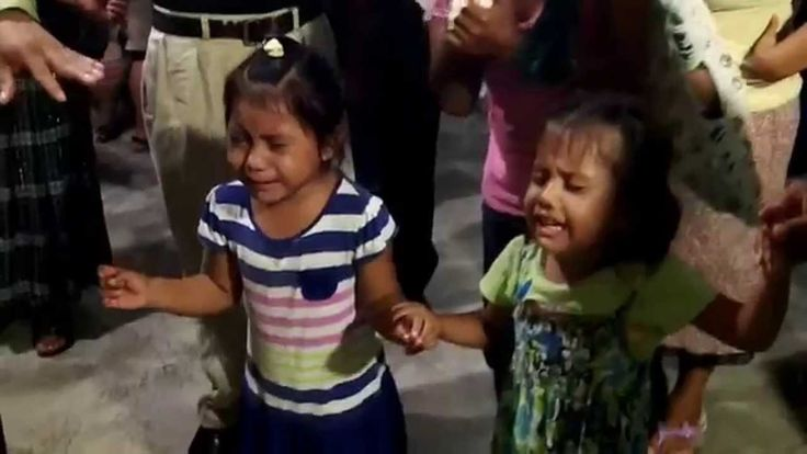 Kids receiving the Holy Ghost in Peten