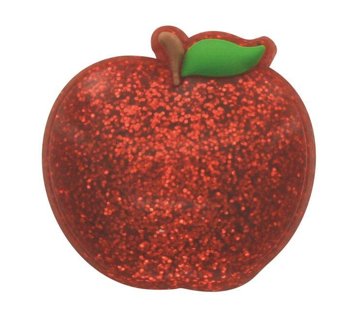 210 jibbitz apple glitter 3000006 00146 0001 food croc for Cuisine 0 crocs