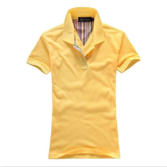 Men Polo Shirt, Casual Sports Polo T-Shirt, Yellow