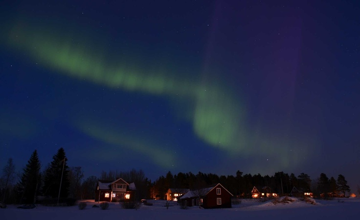 The Aurora Borealis between Are and Ostersund, Sweden