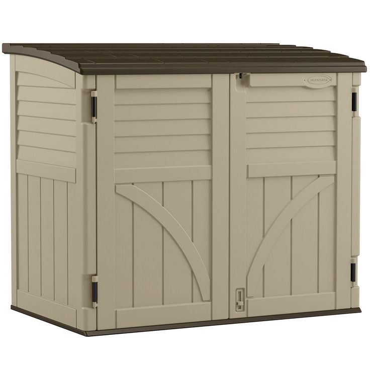 Suncast 2 ft. 8 in. x 4 ft. 5 in. x 3 ft. 9.5 in. Resin Horizontal Storage Shed-BMS3400 - The Home Depot