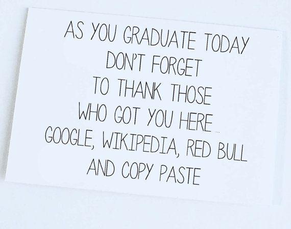 Congratulations Graduate Funny Graduation Card Graduate Card