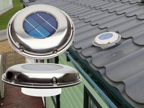 Low Profile Solar Charged Stainless Steel Extractor Vent Fan with inbuilt Switch for Static, Touring Caravans & Motorhomes: Amazon.co.uk: Kitchen & Home
