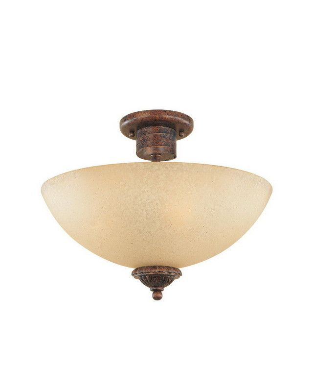 Designers Fountain Lighting 99311 AUB Belaire Collection Three Light Semi Flush Ceiling Mount in Aged Umber Bronze Finish | Quality Discount Lighting