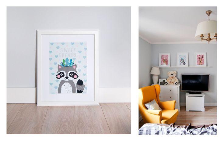 Cutout illustrations made for Mania, my little nice. Raccoon, bear, deer. A3 size. Made by Malgorzata Szymakowska.