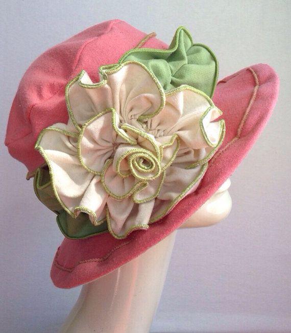 Ladies Sun Hat  Edwardian Hat  Organic Cotton and by hatjunkie, $160.00