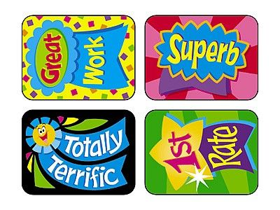 TREND's Reward Ribbons Applause reward stickers contain motivating messages and vibrant designs that make it easy to inspire children of all ages Acid-free, non-toxic, and safe for use on photos.