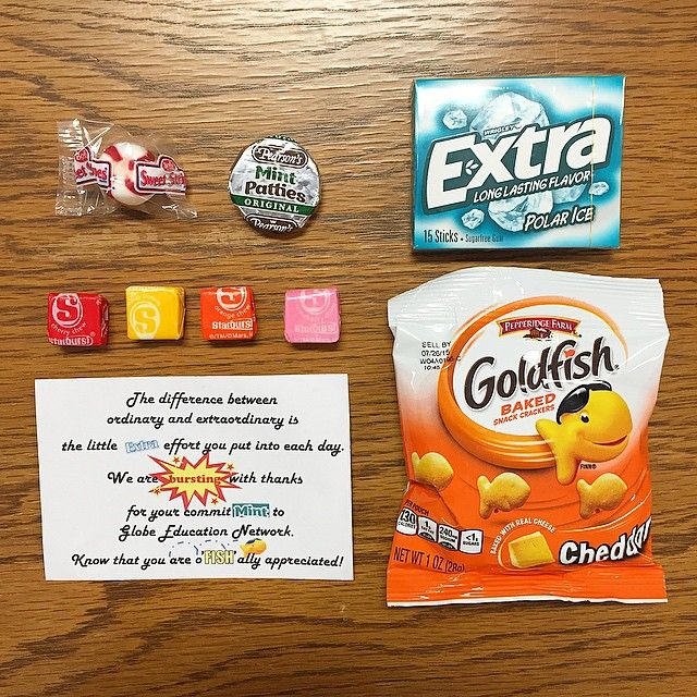 It's #EmployeeAppreciationDay - a day to recognize & remember to value the difference made by employees. Here at #GlobeUniversity, a little goody bag of thanks to top off #Friday. Thank you for all that you do!