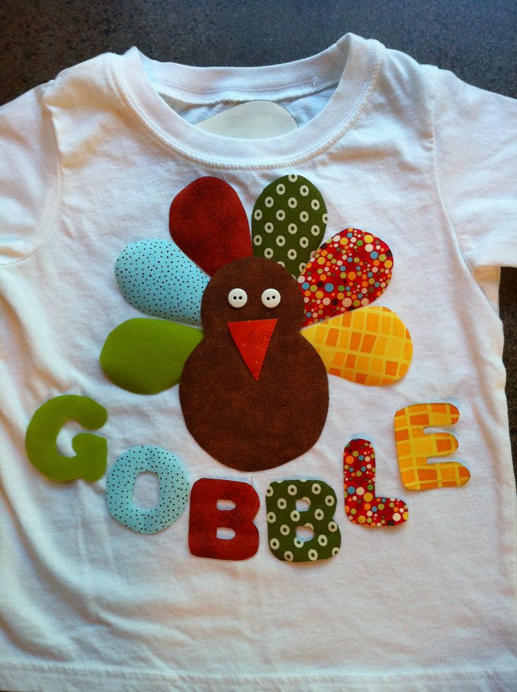 Matching Thanksgiving shirts for the kids? Easy pattern to recreate.