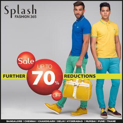 Upto 70% Further reductions! #SplashIndia #Splash #Sale #Fashion