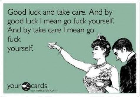 good luck and take care!