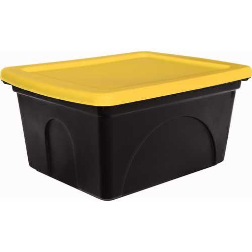 Warrior Tote 50 litre. Black/Yellow. - Mitre 10